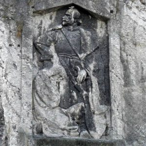 Reliéf Jana Jiskru z Brandýsa v Trenčíne